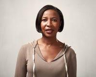 Afrikansk amerikankvinnastående Arkivfoton