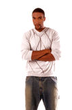 afrikansk amerikanman Fotografering för Bildbyråer