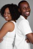 afrikansk amerikanpar royaltyfri foto