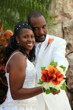 afrikansk amerikanparbröllop Arkivfoto