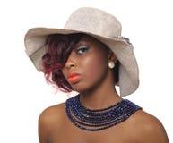 Afrikansk amerikanskönhetkvinna arkivfoto