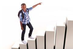 Afrikansk amerikanskolapojke - svarta människor Arkivfoton