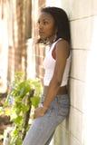 afrikansk amerikanväggkvinna royaltyfri bild