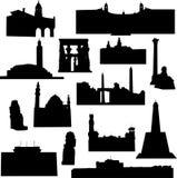 afrikansk arkitektur royaltyfri illustrationer