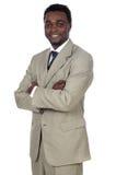 afrikansk attraktiv affärsman Arkivfoton