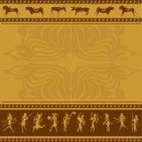 Afrikansk bakgrund med gammalt vaggar bildmannen och a Arkivbild