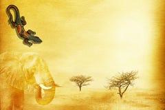 afrikansk bakgrundsgrunge Arkivbilder