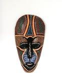 afrikansk bakgrundsmaskeringswhite royaltyfri bild