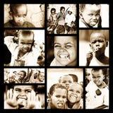 afrikansk barncollage arkivfoton