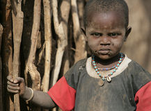 afrikansk barnslum Arkivbild