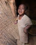 afrikansk barnslum Arkivfoton