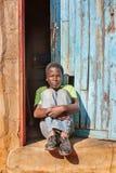 afrikansk barnstående Fotografering för Bildbyråer