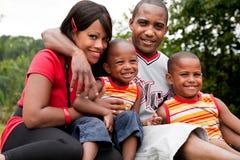 afrikansk colorfullfamilj Arkivbild