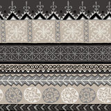 Afrikansk dekorativ modell stock illustrationer