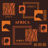 afrikansk design Arkivbild