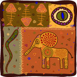 afrikansk djur modell stock illustrationer
