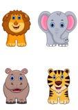 Afrikansk djur tecknad filmsymbol vektor illustrationer