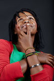 afrikansk drömma deltagare fotografering för bildbyråer