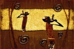 Afrikansk etnisk retro tappningillustration Arkivfoto