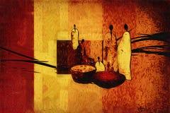 Afrikansk etnisk retro tappningillustration Royaltyfria Foton