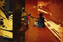 Afrikansk etnisk retro tappningillustration Arkivbilder