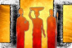 Afrikansk etnisk retro tappningillustration Royaltyfria Bilder