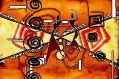 Afrikansk etnisk retro tappningillustration Fotografering för Bildbyråer