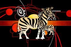 Afrikansk etnisk retro tappningillustration Royaltyfri Fotografi