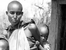 afrikansk familj royaltyfri fotografi