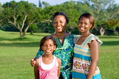 afrikansk familj royaltyfria foton