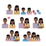 Afrikansk familjvektor Arkivbild