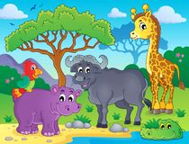 Afrikansk faunatemabild 1 Arkivbild