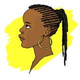 afrikansk flicka Arkivfoto