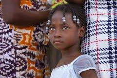 Afrikansk flicka i Ghana Fotografering för Bildbyråer