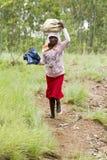 Afrikansk flicka - Rwanda Arkivbilder