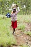Afrikansk flicka - Rwanda Royaltyfria Bilder