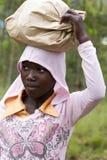 Afrikansk flicka - Rwanda Arkivbild