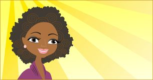 afrikansk flickastående Arkivfoton