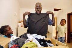 Afrikansk flyktingförseningmitt Arkivfoton