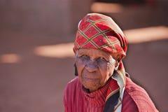 afrikansk gammal kvinna Fotografering för Bildbyråer