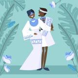 Afrikansk gifta sig bild royaltyfri illustrationer