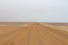 Afrikansk grusväg Arkivbild