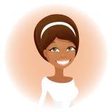 afrikansk gullig kvinna Arkivfoton