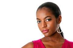 afrikansk härlig framsidakvinna Royaltyfri Foto