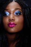 afrikansk härlig framsidakvinna royaltyfri fotografi