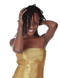 afrikansk härlig kvinna Royaltyfria Bilder