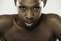 afrikansk härlig kvinna royaltyfri fotografi