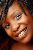 afrikansk härlig piercingskvinna royaltyfria foton
