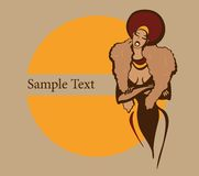 afrikansk härlig kvinna Arkivbild