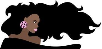 afrikansk härlig kvinna Arkivfoto